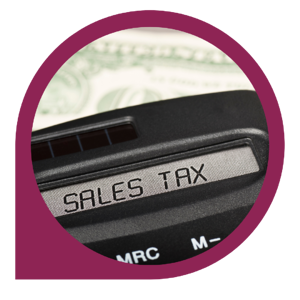 calculator that says sales tax on screen
